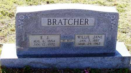 HOOTEN BRATCHER, WILLIE JANE - Lawrence County, Arkansas | WILLIE JANE HOOTEN BRATCHER - Arkansas Gravestone Photos