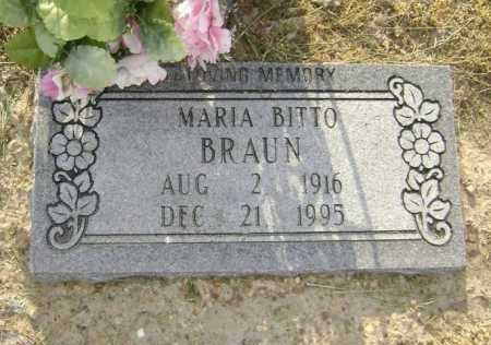BITTO BRAUN, MARIA - Lawrence County, Arkansas   MARIA BITTO BRAUN - Arkansas Gravestone Photos