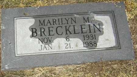 BRECKLEIN, MARILYN M. - Lawrence County, Arkansas | MARILYN M. BRECKLEIN - Arkansas Gravestone Photos