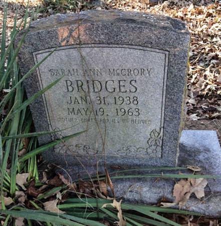 MCCRORY BRIDGES, SARAH ANN - Lawrence County, Arkansas | SARAH ANN MCCRORY BRIDGES - Arkansas Gravestone Photos