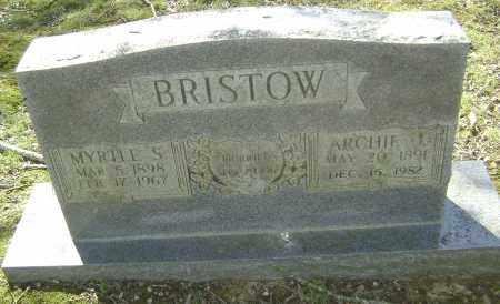BRISTOW, ARCHIE JEFFERSON - Lawrence County, Arkansas | ARCHIE JEFFERSON BRISTOW - Arkansas Gravestone Photos