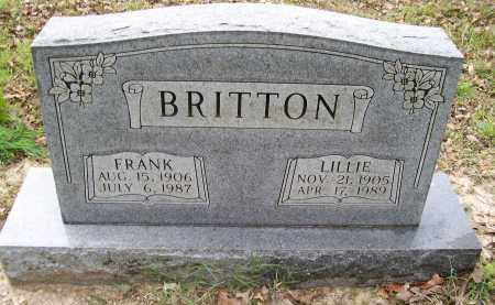 """BRITTON, GEORGE FRANKLIN """"FRANK"""" - Lawrence County, Arkansas 