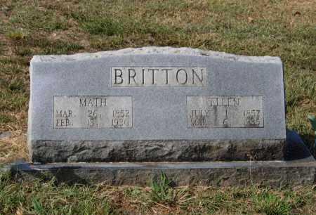 "BRITTON, MATTHEW WINSTON ""MATH"" - Lawrence County, Arkansas | MATTHEW WINSTON ""MATH"" BRITTON - Arkansas Gravestone Photos"