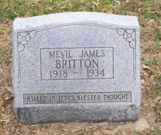 BRITTON, MEVIL JAMES - Lawrence County, Arkansas | MEVIL JAMES BRITTON - Arkansas Gravestone Photos