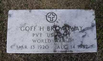 BROADWAY (VETERAN WWII), GOFF HARMON - Lawrence County, Arkansas   GOFF HARMON BROADWAY (VETERAN WWII) - Arkansas Gravestone Photos