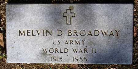 BROADWAY (VETERAN WWII), MELVIN DUARD - Lawrence County, Arkansas | MELVIN DUARD BROADWAY (VETERAN WWII) - Arkansas Gravestone Photos