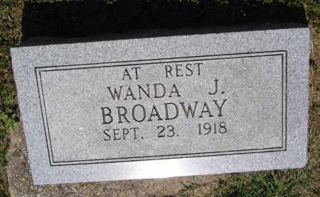 BROADWAY, WANDA J. - Lawrence County, Arkansas | WANDA J. BROADWAY - Arkansas Gravestone Photos