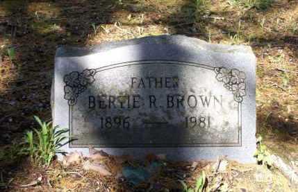 BROWN, BERTIE RAY - Lawrence County, Arkansas | BERTIE RAY BROWN - Arkansas Gravestone Photos