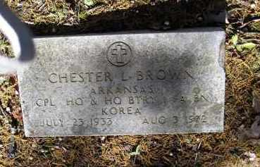 BROWN (VETERAN KOR), CHESTER LEVELL - Lawrence County, Arkansas | CHESTER LEVELL BROWN (VETERAN KOR) - Arkansas Gravestone Photos