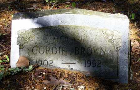 MILLIGAN BROWN, CORDIE - Lawrence County, Arkansas   CORDIE MILLIGAN BROWN - Arkansas Gravestone Photos