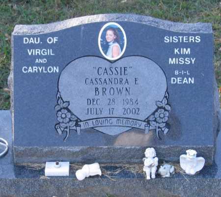 "BROWN, CASSANDRA ELIZABETH ""CASSIE"" - Lawrence County, Arkansas   CASSANDRA ELIZABETH ""CASSIE"" BROWN - Arkansas Gravestone Photos"