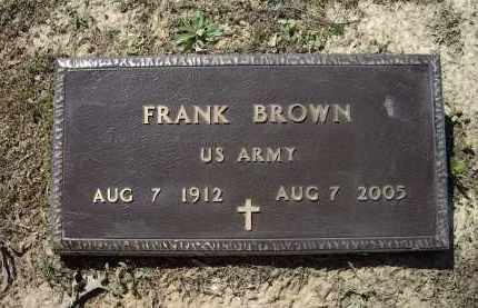 BROWN (VETERAN), FRANK - Lawrence County, Arkansas | FRANK BROWN (VETERAN) - Arkansas Gravestone Photos