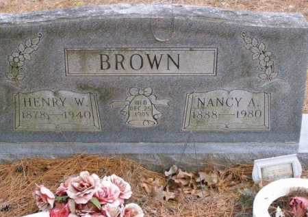 BROWN, HENRY WALTER - Lawrence County, Arkansas | HENRY WALTER BROWN - Arkansas Gravestone Photos