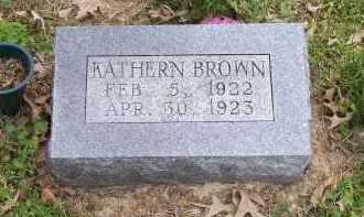 BROWN, KATHERN - Lawrence County, Arkansas | KATHERN BROWN - Arkansas Gravestone Photos