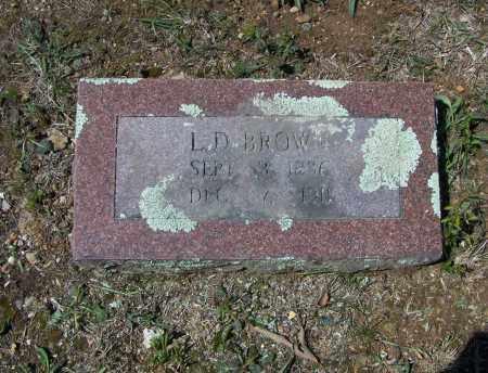 BROWN (VETERAN CSA), LEONIDAS D. - Lawrence County, Arkansas   LEONIDAS D. BROWN (VETERAN CSA) - Arkansas Gravestone Photos