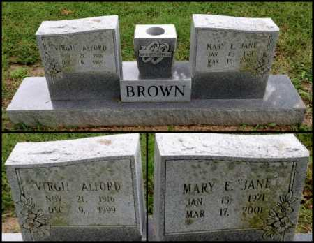 "BROWN, MARY ELLEN ""JANE"" - Lawrence County, Arkansas 