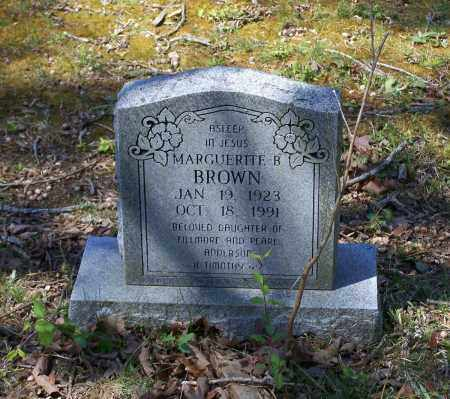 BROWN, MARGUERITE B. - Lawrence County, Arkansas | MARGUERITE B. BROWN - Arkansas Gravestone Photos