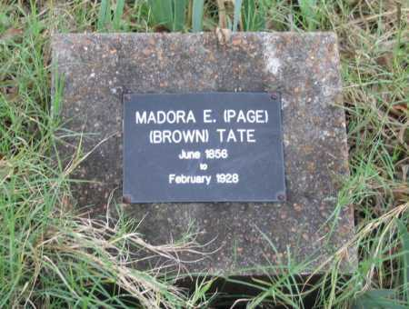 TATE, MADORA EMALINE PAGE BROWN - Lawrence County, Arkansas | MADORA EMALINE PAGE BROWN TATE - Arkansas Gravestone Photos