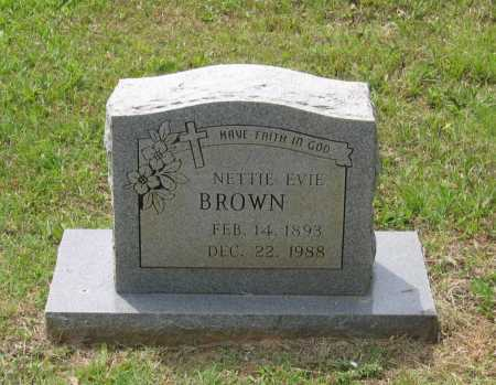 BROWN, NETTIE EVIA - Lawrence County, Arkansas | NETTIE EVIA BROWN - Arkansas Gravestone Photos