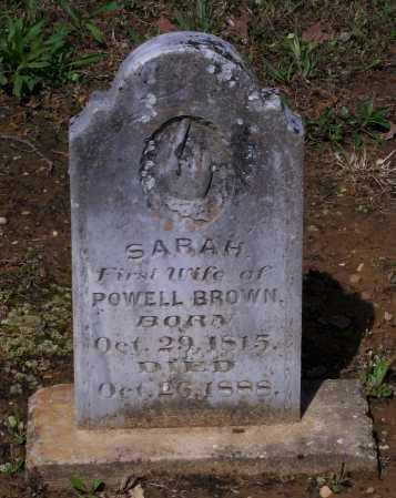 BUCHANNAN BROWN, SARAH - Lawrence County, Arkansas   SARAH BUCHANNAN BROWN - Arkansas Gravestone Photos