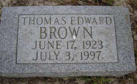 BROWN, THOMAS EDWARD - Lawrence County, Arkansas   THOMAS EDWARD BROWN - Arkansas Gravestone Photos