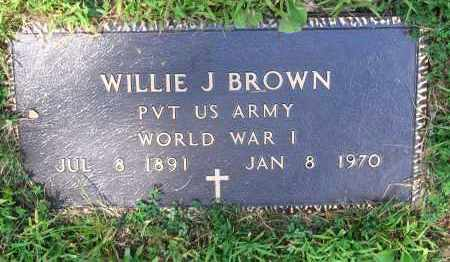 BROWN (VETERAN WWI), WILLIE J. - Lawrence County, Arkansas | WILLIE J. BROWN (VETERAN WWI) - Arkansas Gravestone Photos