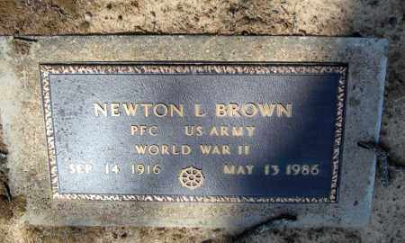 BROWN (VETERAN WWII), NEWTON L - Lawrence County, Arkansas | NEWTON L BROWN (VETERAN WWII) - Arkansas Gravestone Photos