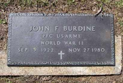 BURDINE (VETERAN WWII), JOHN F. - Lawrence County, Arkansas | JOHN F. BURDINE (VETERAN WWII) - Arkansas Gravestone Photos