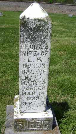 BURGIN, FLORA A. - Lawrence County, Arkansas | FLORA A. BURGIN - Arkansas Gravestone Photos