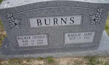 """BURNS, WALMER """"DIDDLE"""" - Lawrence County, Arkansas 