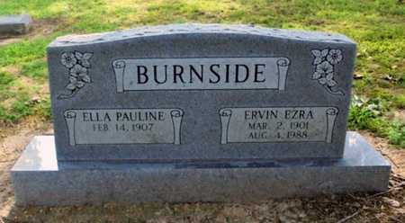 BURNSIDE, ERVIN EZRA - Lawrence County, Arkansas | ERVIN EZRA BURNSIDE - Arkansas Gravestone Photos