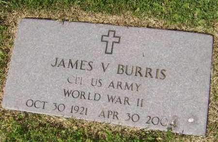 BURRIS (VETERAN WWII), JAMES V. - Lawrence County, Arkansas | JAMES V. BURRIS (VETERAN WWII) - Arkansas Gravestone Photos
