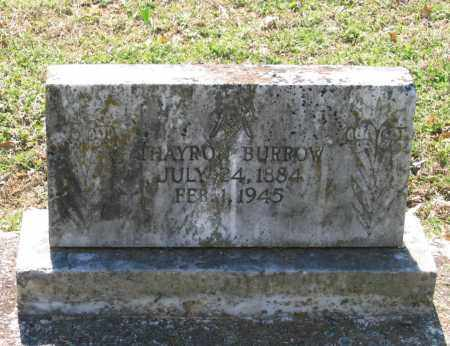 BURROW, THAYRO - Lawrence County, Arkansas   THAYRO BURROW - Arkansas Gravestone Photos