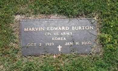 BURTON (VETERAN KOR), MARVIN EDWARD - Lawrence County, Arkansas | MARVIN EDWARD BURTON (VETERAN KOR) - Arkansas Gravestone Photos