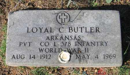 BUTLER (VETERAN WWII), LOYAL C - Lawrence County, Arkansas | LOYAL C BUTLER (VETERAN WWII) - Arkansas Gravestone Photos