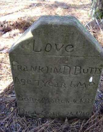 BUTTS, FRANKLIN D. - Lawrence County, Arkansas   FRANKLIN D. BUTTS - Arkansas Gravestone Photos
