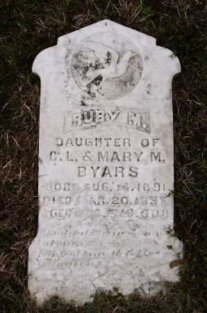 BYARS, RUBY M. - Lawrence County, Arkansas   RUBY M. BYARS - Arkansas Gravestone Photos
