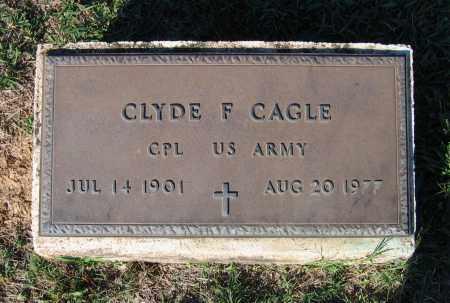 CAGLE (VETERAN), CLYDE F - Lawrence County, Arkansas   CLYDE F CAGLE (VETERAN) - Arkansas Gravestone Photos