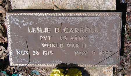 CARROLL (VETERAN WWII), LESLIE DELBERT - Lawrence County, Arkansas | LESLIE DELBERT CARROLL (VETERAN WWII) - Arkansas Gravestone Photos