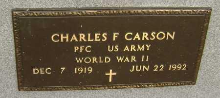 CARSON  (VETERAN WWII), CHARLES FRANK - Lawrence County, Arkansas | CHARLES FRANK CARSON  (VETERAN WWII) - Arkansas Gravestone Photos