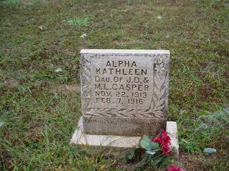 CASPER, ALPHA KATHLEEN - Lawrence County, Arkansas | ALPHA KATHLEEN CASPER - Arkansas Gravestone Photos