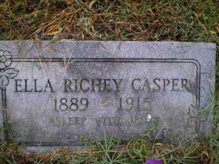 RICHEY CASPER, ELLA - Lawrence County, Arkansas | ELLA RICHEY CASPER - Arkansas Gravestone Photos