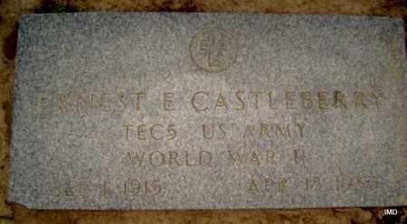 CASTLEBERRY  (VETERAN WWII), EARNEST E. - Lawrence County, Arkansas | EARNEST E. CASTLEBERRY  (VETERAN WWII) - Arkansas Gravestone Photos