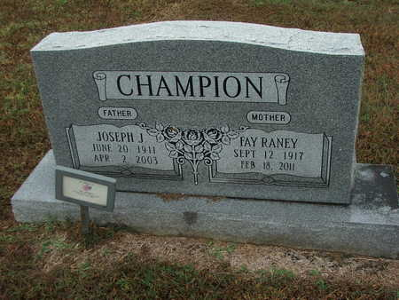 "CHAMPION, JOSEPH JACKSON ""JOE"" - Lawrence County, Arkansas | JOSEPH JACKSON ""JOE"" CHAMPION - Arkansas Gravestone Photos"