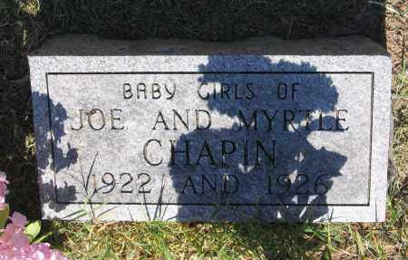 CHAPIN, INFANT DAUGHTER - Lawrence County, Arkansas   INFANT DAUGHTER CHAPIN - Arkansas Gravestone Photos