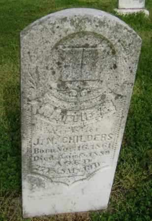 CHILDERS, MATTIE A. - Lawrence County, Arkansas   MATTIE A. CHILDERS - Arkansas Gravestone Photos