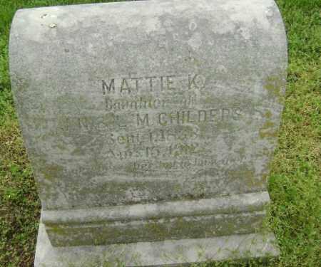 CHILDERS, MATTIE K. - Lawrence County, Arkansas | MATTIE K. CHILDERS - Arkansas Gravestone Photos