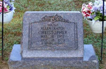 CHRISTOPHER, ALLEN KATON - Lawrence County, Arkansas | ALLEN KATON CHRISTOPHER - Arkansas Gravestone Photos