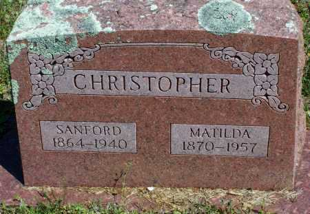 CHRISTOPHER, MATILDA JULIA - Lawrence County, Arkansas | MATILDA JULIA CHRISTOPHER - Arkansas Gravestone Photos
