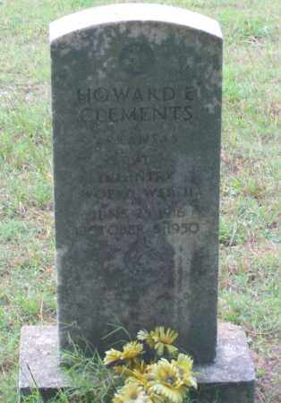 CLEMENTS (VETERAN WWII), HOWARD E. - Lawrence County, Arkansas | HOWARD E. CLEMENTS (VETERAN WWII) - Arkansas Gravestone Photos